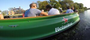 Heineken sloep op de vliet Boottocht Den Haag
