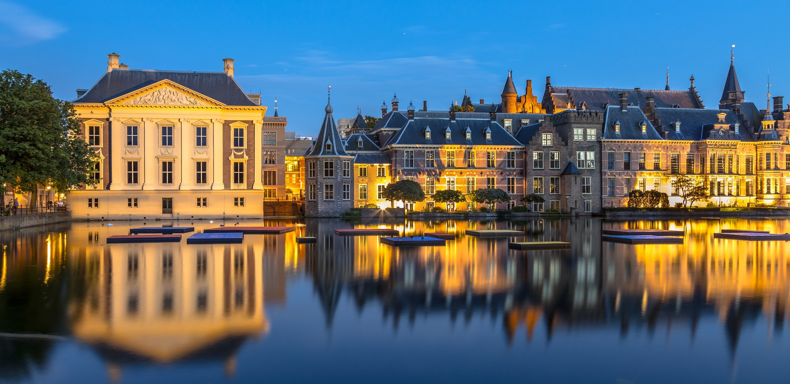 Avond Binnenhof Den Haag